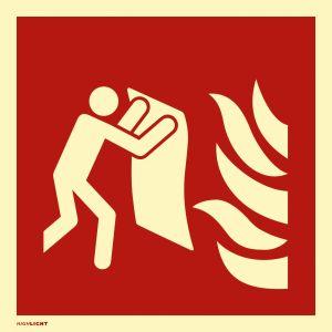Feuerlöschdecke nach ISO 7010 (F016)