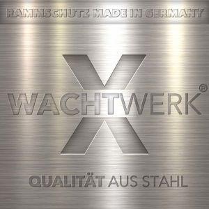 Rammschutzbügel WACHTWERK X® aus Stahl - Stärke S Ø 76 mm LOGO