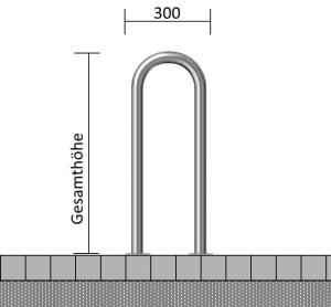 Universalbügel aus Edelstahl, Ø 48 mm