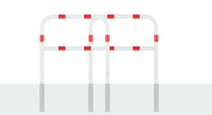 Wegesperre aus Stahl, herausnehm- und drehbar, wahlweise mit Knieholm, Ø 60 mm