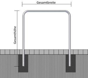 Stahl-Schutzbügel ohne Querholm, Ø 48 mm
