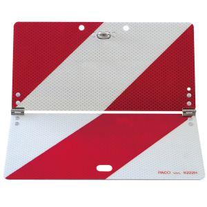 Parkwarntafel rot-weiß - klappbar und bauartgeprüft, RA3-reflektierend