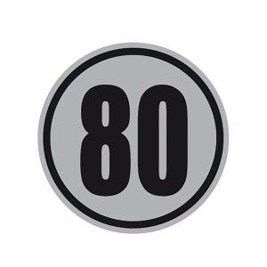 Geschwindigkeitsschilder 80 km/h