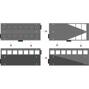 Fahrbahnschwelle Plateaukissen GAMMA 30 km/h - Tragkraft 40 t, bei einer Achslast von 15 t