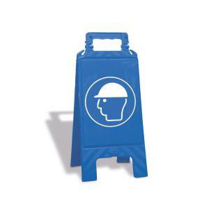 Warnaufsteller blau mit Gebotszeichen oder neutral