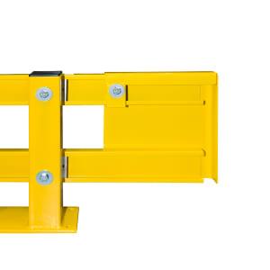 Rammschutzplanke Typ A als Regalanfahrschutz WACHTWERK X® FLEX aus Stahl