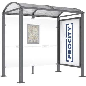 Wartehalle ProCity mit Schaukasten