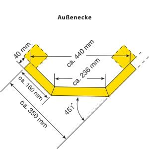 Rammschutzplanke WACHTWERK X® - Modulsystem EINS