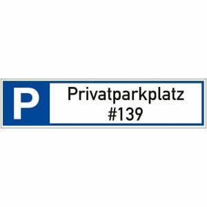 Parkplatzreservierer mit Wunschtext