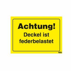 Achtung! Deckel ist federbelastet (25er VPE)
