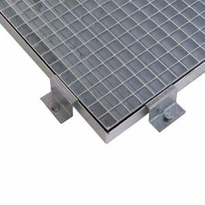 Randklemme für modulare Sicherheitsbodenelemente aus Stahl
