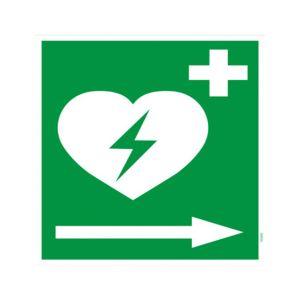 Defibrillator Pfeil rechts (BGV A8  VBG 125)