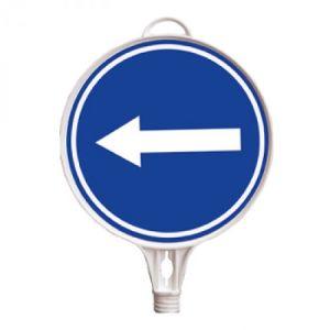 Schilderaufsätze Richtungspfeil - Rundes Schild