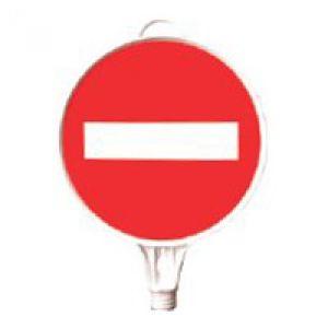 Schilderaufsätze Durchfahrt verboten - Rundes Schild