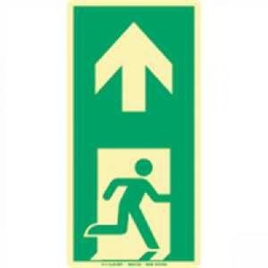 Antirutsch-Fußbodenmarkierung - Vorgegebene Fluchtrichtung nach ISO 7010