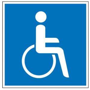 Gebotszeichen - Rollstuhlfahrer (quadratisch)