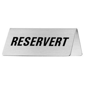 Tischschild - Reservert