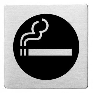 Piktogramm - Rauchen gestattet (ecken abgerundet/schwarz)