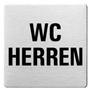 Textschild - WC Herren (ecken abgerundet)