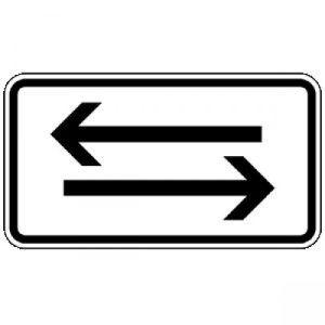 Verkehr in beide Richtungen, 2 waagerechte Pfeile