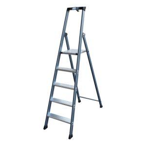 Stufen-Stehleiter MONTO SePro S, eloxiert