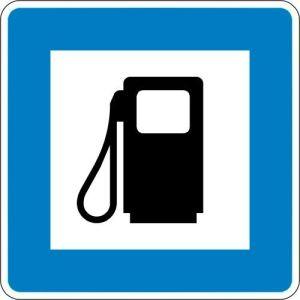 VZ 365-52 Autobahn-Hinweisschild Tankstelle