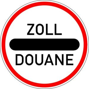 Autobahn-Hinweisschild Zollstelle VZ 392