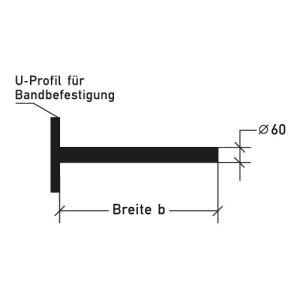 Ausleger für Bandbefestigung - Variante 1
