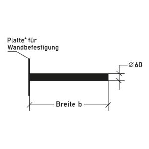 Ausleger für Wandbefestigung - Variante 1