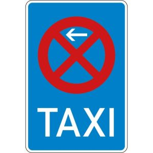 Schild Taxistand VZ 229-10  Taxenstand Anfang