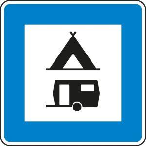 VZ 365-60 StVO-Hinweisschild Zelt und Wohnwagenplatz