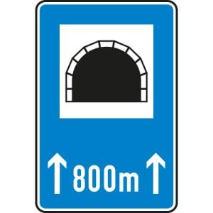 StVO-Hinweisschild: Tunnel mit Länge VZ 327-50