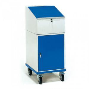 Rollschrank mit Schreibpult und Flügeltürschrank  - Tragkraft 150 kg