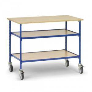 Rolltisch mit 2 verstellbaren Böden  - Tragkraft 150 kg