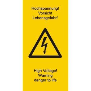 Warnetiketten Vorsicht Hochspannung