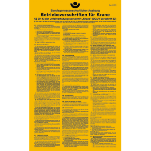 Betriebsvorschriften für Krane