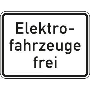 Elektrofahrzeuge frei Zusatzschild mit VZ 1026-61