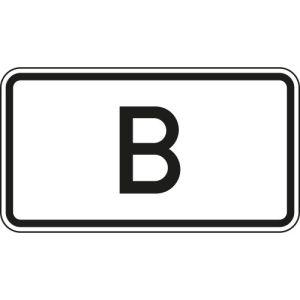 Zusatzzeichen Tunnelkategorie B... VZ 1014-50
