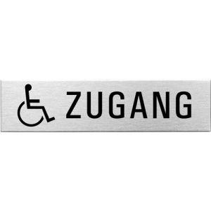 Textschild+Symbol - Rollstuhlfahrer Zugang