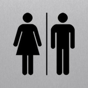 Toiletten eckig