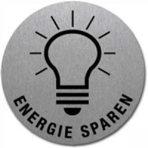 Textschild+Symbol - Energie sparen (Motiv 2)