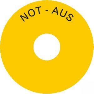 Schild - NOT AUS