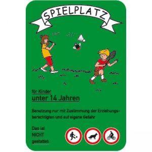 Spielplatz für Kinder unter 14 Jahren (grün)