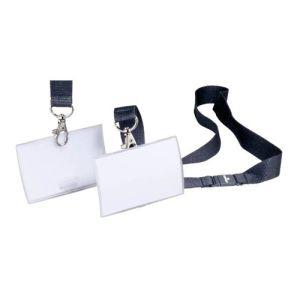 Namensschild CLICK FOLD mit Textilband, Durable (10er VPE)