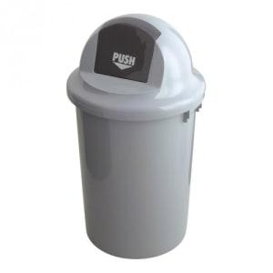 Abfallbehällter mit abgerundetem Klappdeckel - Inhalt 47 / 60 / 90 Liter