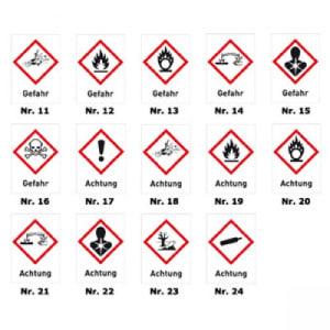 Gruppe 5 - Nichtbrennbare Gase mit Gefahrstoffsymbol (GHS)