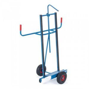 Plattenkarre mit Profilgummi und einstellbarem Niederhalter - Tragkraft 350 / 400 kg