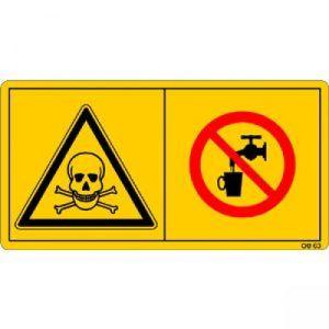 Vergiftungsgefahr - Kein Trinkwasser