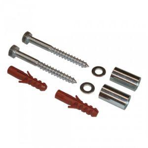 Montagesatz für Halbrund- / Rund-Ascher aus Stahl und Abfallbehälter zur Wandbefestigung