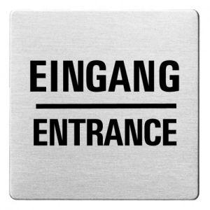 Textschild - Eingang/Entrance (ecken abgerundet)